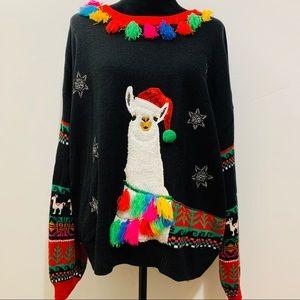 Lama Christmas Sweater